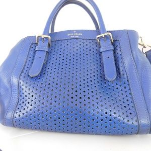 Kate Spade Blue Leather Shoulder Bag / Purse